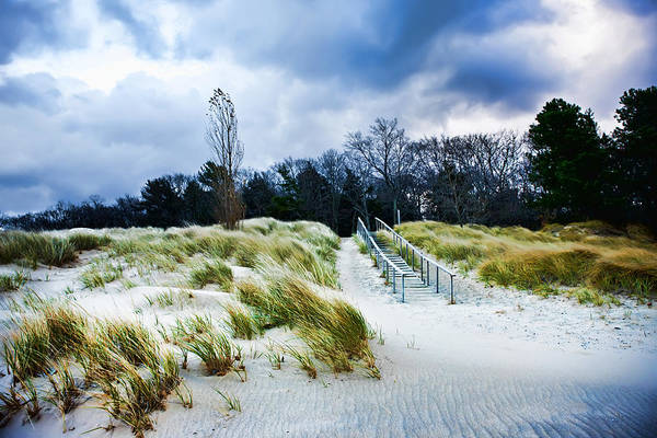 Photograph - Saugatuck Stairs In The Dunes On Lake Michigan by Evie Carrier