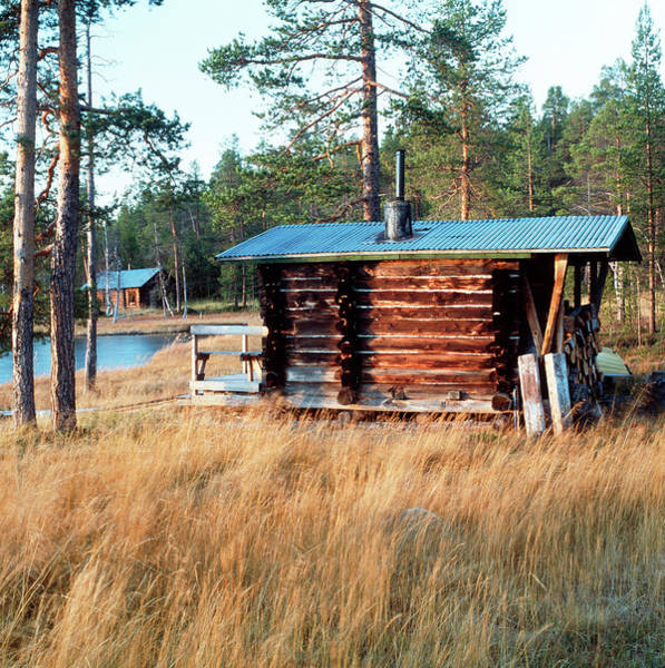 Sauna Wall Art - Photograph - Sauna Hut by Mark De Fraeye/science Photo Library
