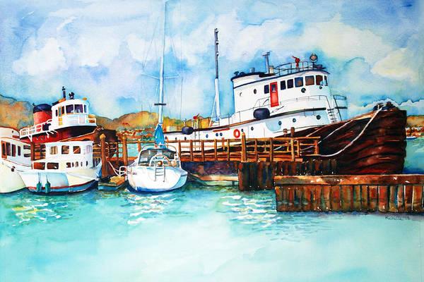 Sausalito Painting - Sausalito Bay by Richelle Siska