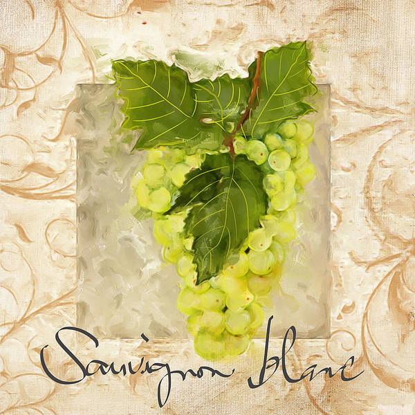Bread And Wine Painting - Sauvignon Blanc II by Lourry Legarde