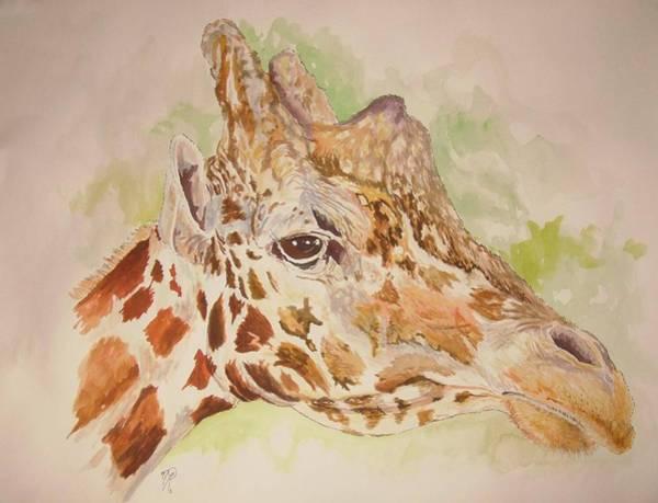 Savanna Giraffe Art Print