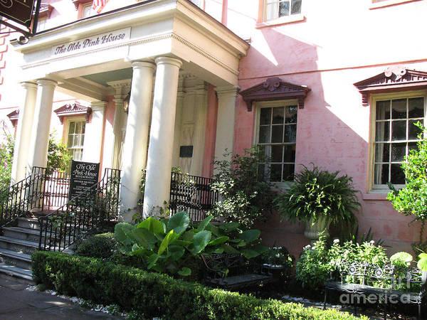 South Georgia Wall Art - Photograph - Savannah Georgia - The Olde Pink House Historical Restaurant by Kathy Fornal