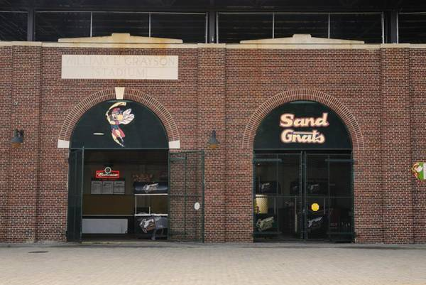Photograph - Savannah Sand Gnats At Grayson Stadium by Bradford Martin