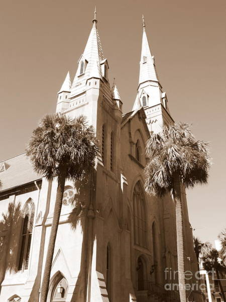 Photograph - Savannah Sepia - Methodist Church by Carol Groenen