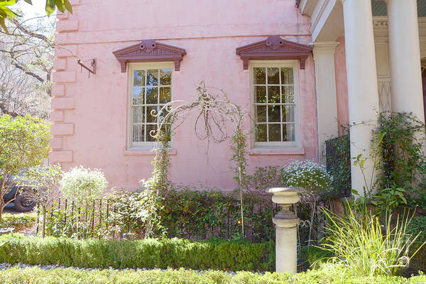 South Georgia Wall Art - Photograph - Savannah The Olde Pink House Restaurant Architecture - Savannah Romantic Pink House And Gardens  by Kathy Fornal