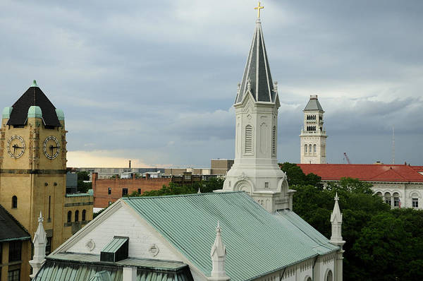 Photograph - Savannah Towers And Steeples. by Bradford Martin