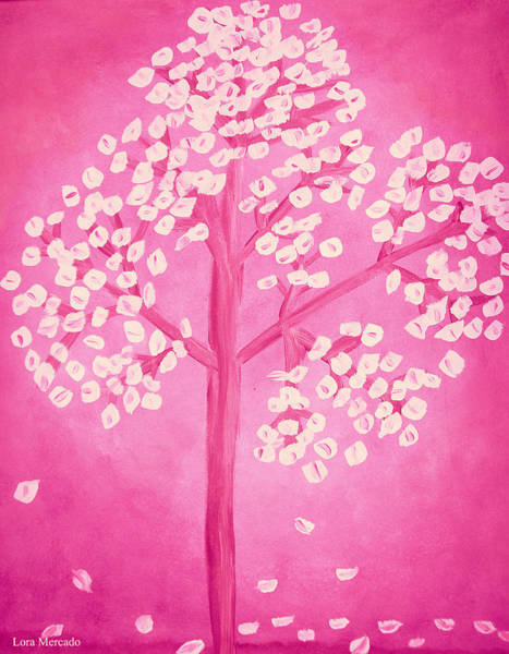 Painting - Savanna's Pink Tree by Lora Mercado