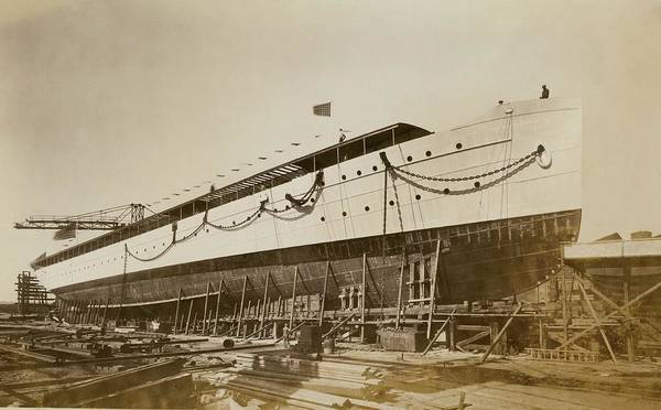 Wilmington Delaware Wall Art - Photograph - Savarona Yacht In Shipyard by Hagley Museum And Archive
