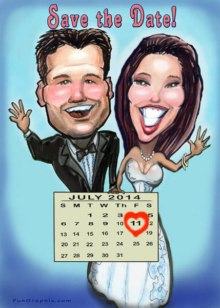 Digital Art - Save The Date by Kevin Middleton