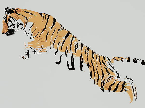Bengal Tiger Drawing - Save Tigers  by Saurabh Kumar