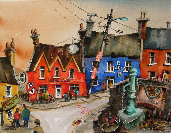 Painting - Save Water Drink Beer In Eyeries by Val Byrne