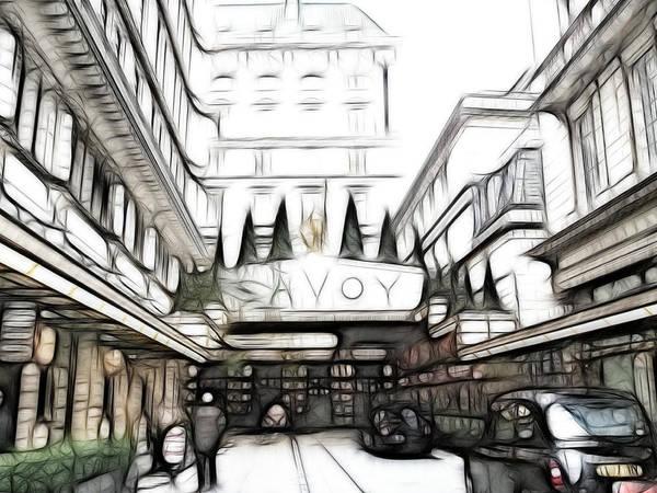 Wall Art - Photograph - Savoy Hotel by Sharon Lisa Clarke