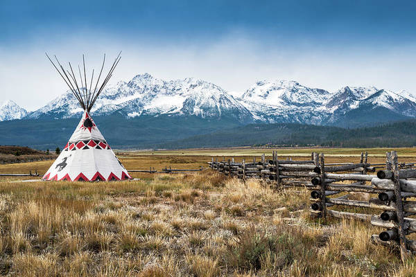 Photograph - Sawtooth Mountains, Tipi, Stanley by Witold Skrypczak