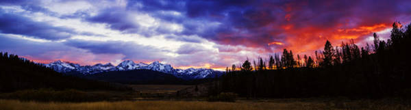 Best Selling Photograph - Sawtooth Sunset Panorama by Vishwanath Bhat