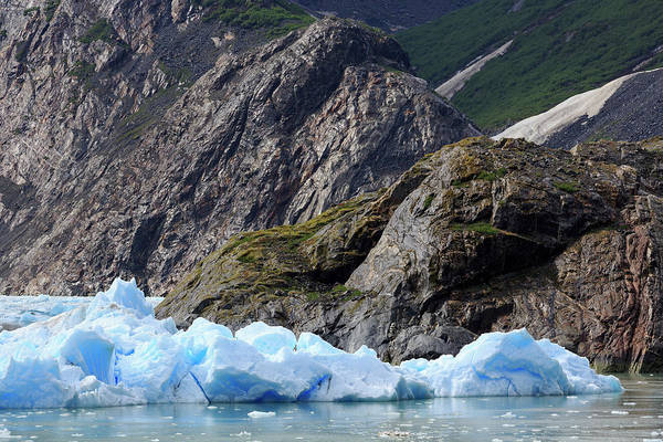 Juneau Photograph - Sawyer Glacier In Tracy Arm Fjord by Richard Cummins