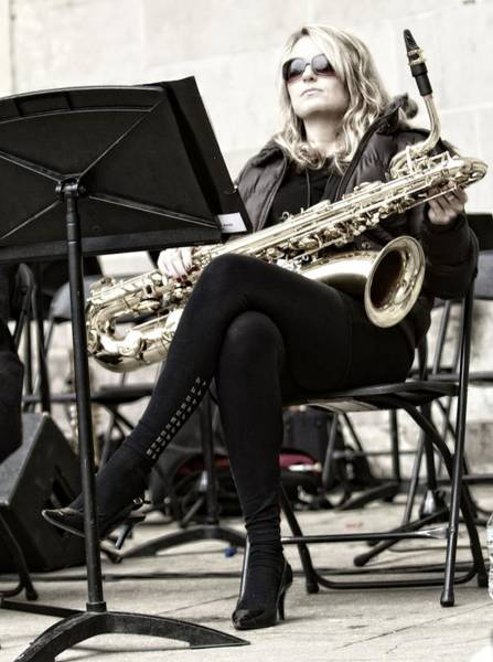 Photograph - Sax Blonde by Alice Gipson