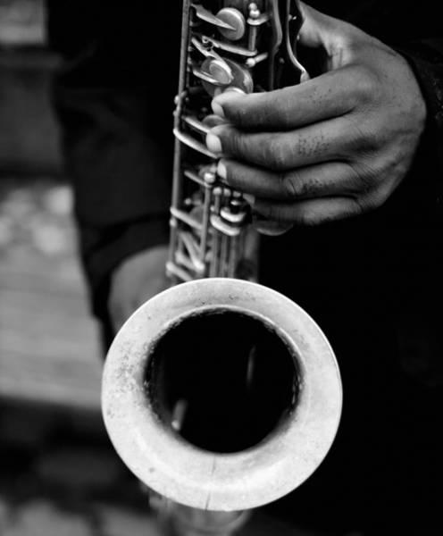 Photograph - Sax Player by Dave Beckerman