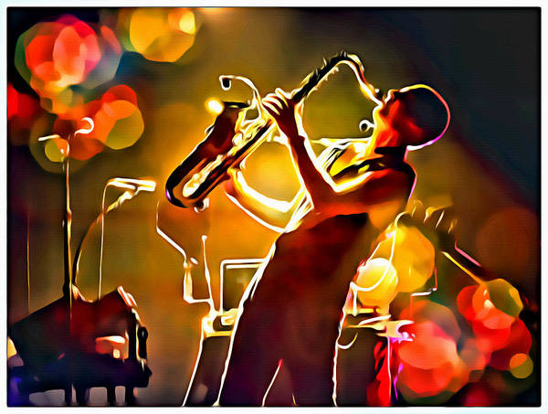 Photograph - Saxbokeh Painted by Alice Gipson