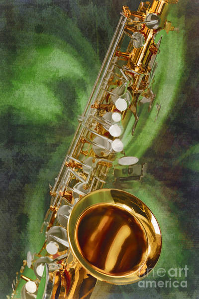 Painting - Saxophone Instrument Painting Music  In Color 3253.02 by M K Miller
