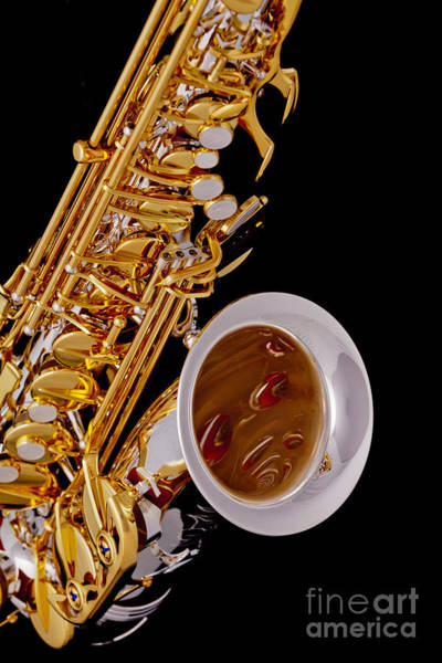 Photograph - Saxophone Music Instrument In Color 3266.02 by M K Miller