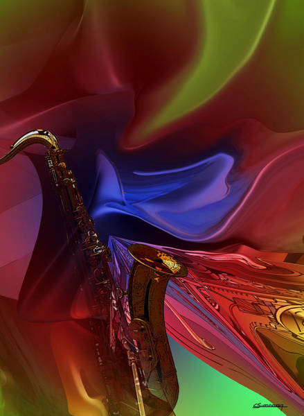 Wall Art - Painting - Saxosound by Christian Simonian