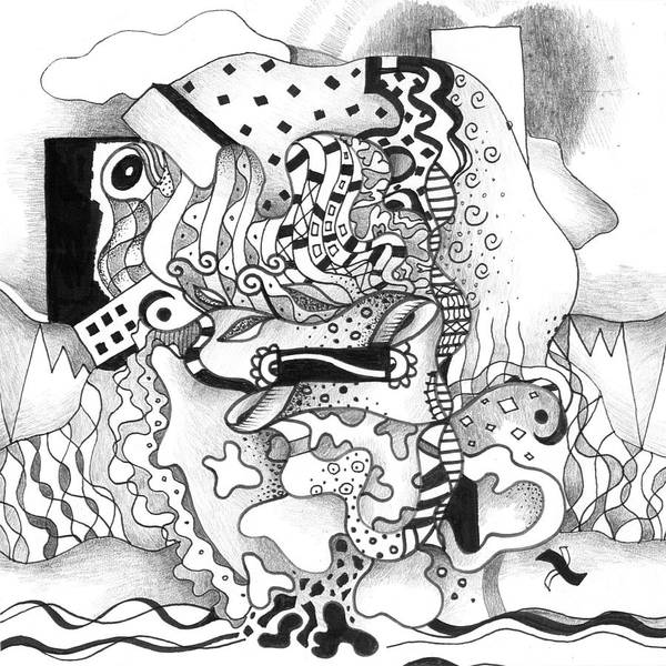 Drawing - Say What - A Seeking Solutions Option by Helena Tiainen