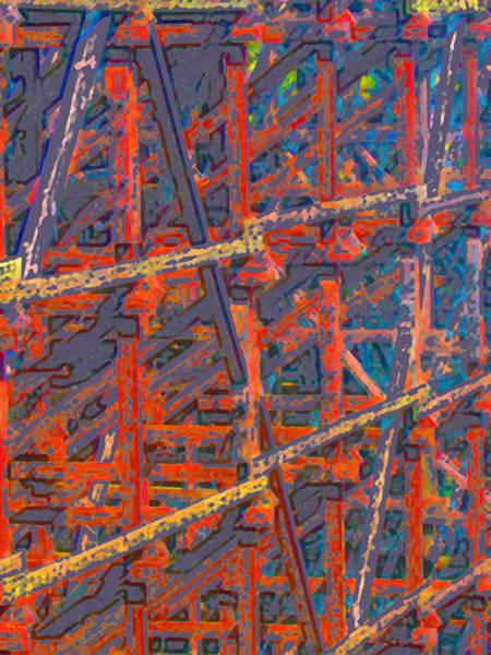 Scaffold Digital Art - Scaffold3 by Geoffrey Smith