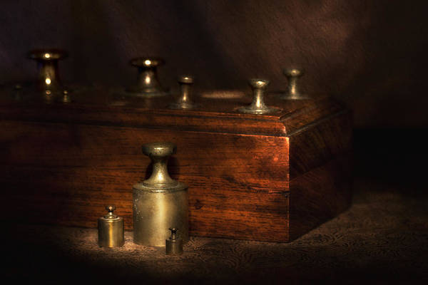 Brass Photograph - Scale Weights Still Life I by Tom Mc Nemar