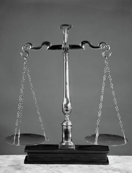 Equal Rights Wall Art - Photograph - Scales Of Justice by Vintage Images