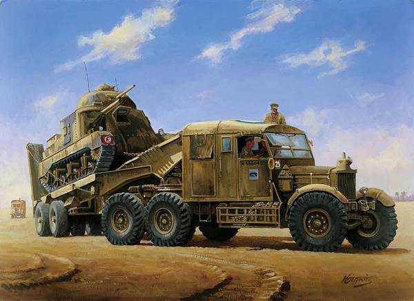 Tank Painting - Scammell Pioneer 1942. by Mike Jeffries