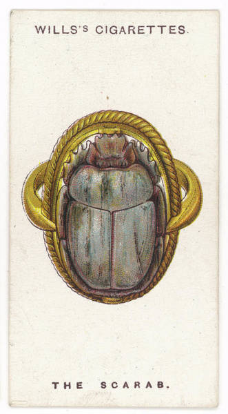 Wall Art - Drawing - Scarab Talisman To The Ancient by Mary Evans Picture Library