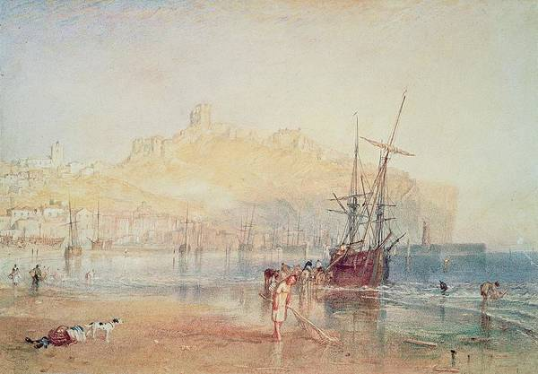 Wall Art - Painting - Scarborough, 1825 by Joseph Mallord William Turner
