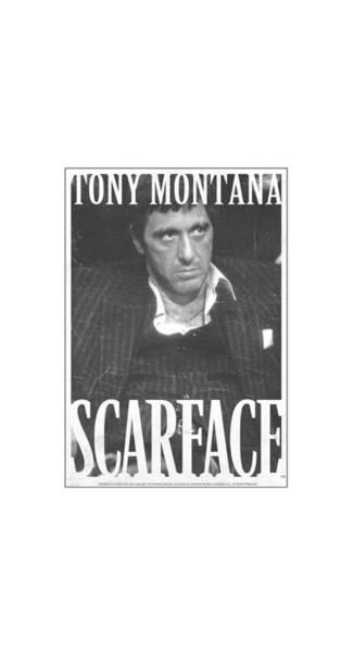 Tony Digital Art - Scarface - Business Face by Brand A