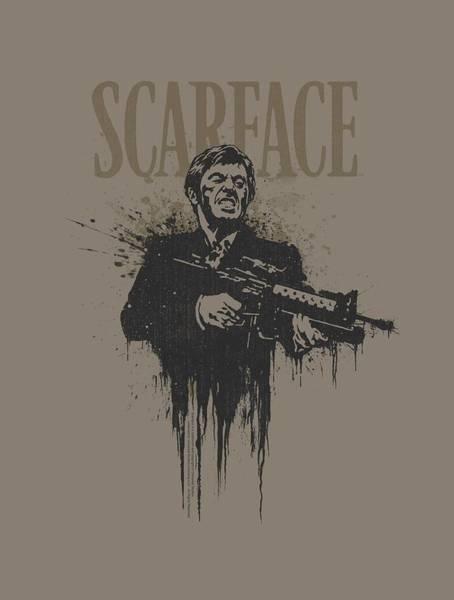 Tony Digital Art - Scarface - Grimace by Brand A