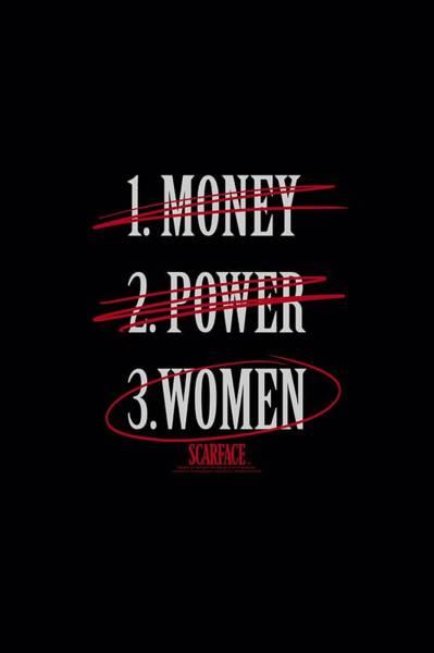 Tony Digital Art - Scarface - Money Power Women by Brand A