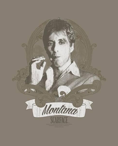 Tony Digital Art - Scarface - Montana by Brand A