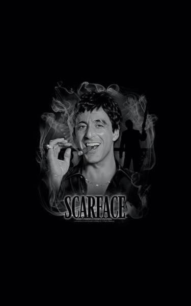Tony Digital Art - Scarface - Smokey Scar by Brand A