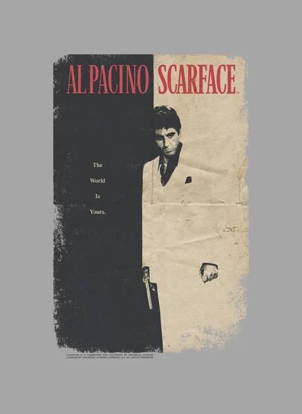 Tony Digital Art - Scarface - Vintage Poster by Brand A