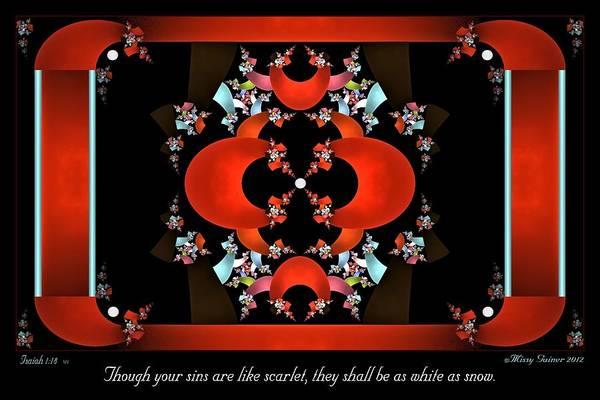 Digital Art - Scarlet by Missy Gainer