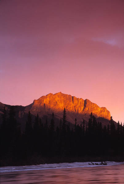 Wall Art - Photograph - Scarlet Yamnuska And Bow River by Richard Berry
