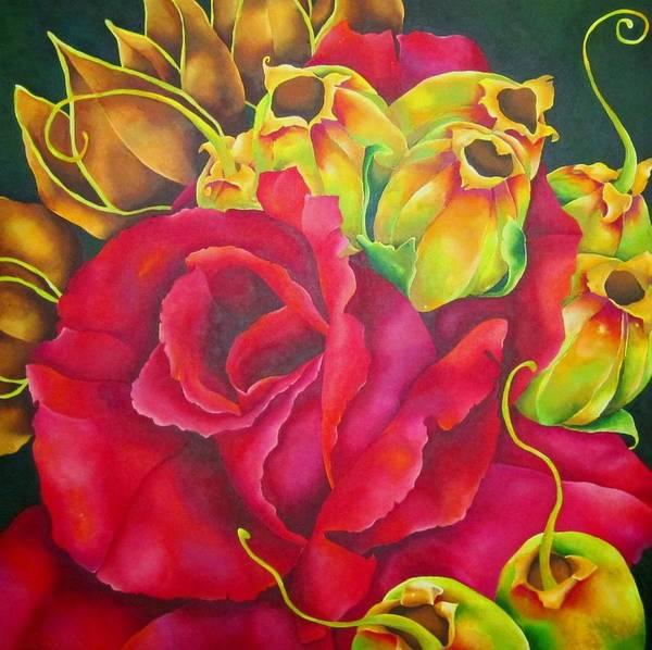 Wall Art - Painting - Scarlett by Elizabeth Elequin