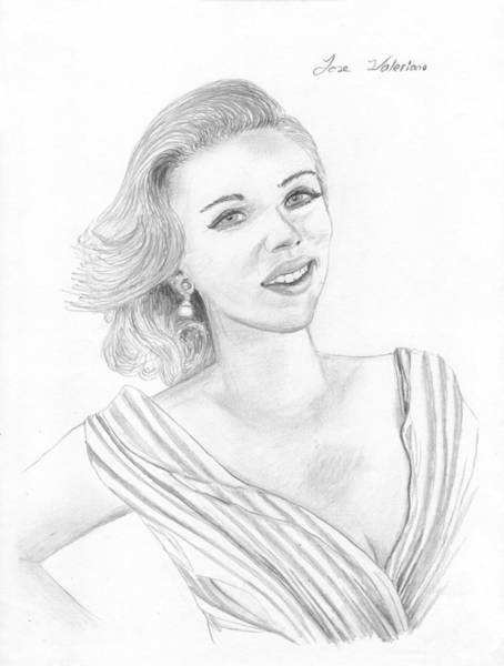 Drawing - Scarlett Johansson by M Valeriano