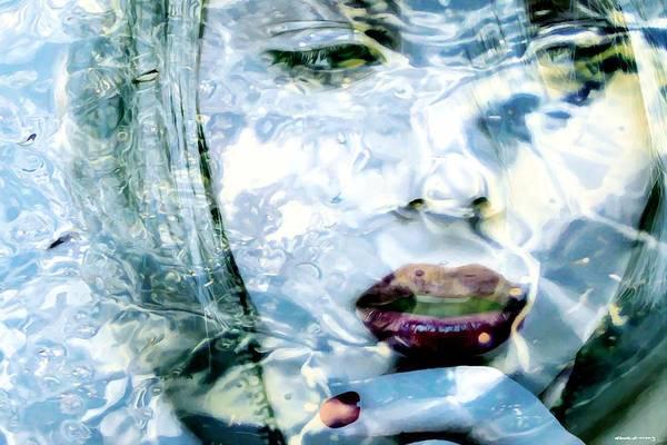 Digital Art - Scarlett Johansson Portrait - Water Reflections Series by Gabriel T Toro