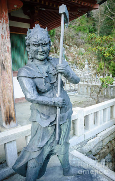 Photograph - Scary Character In Buddhist Temple - Japan by David Hill