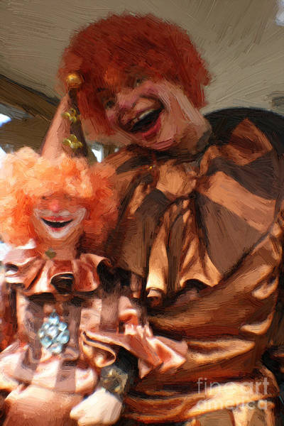 Painting - Scary Clown With Child - Painted by Doc Braham
