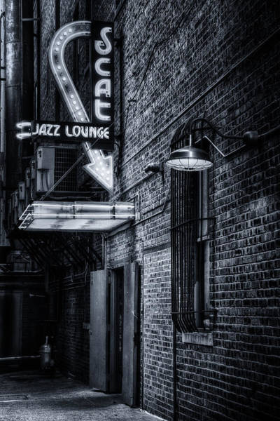 Wall Art - Photograph - Scat Lounge In Cool Black And White by Joan Carroll