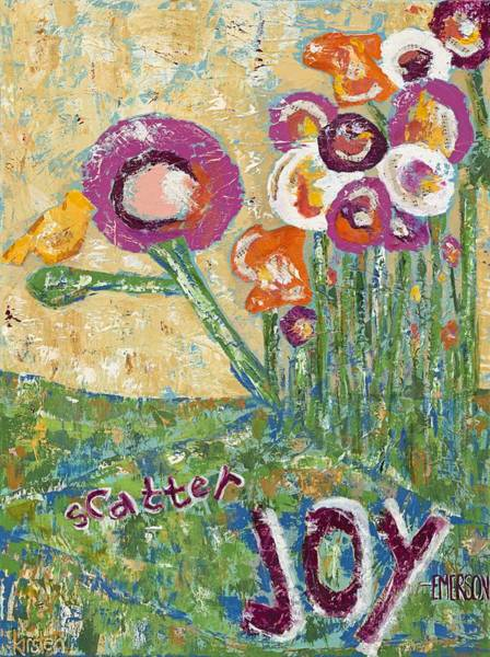 Wall Art - Painting - Scatter Joy by Kirsten Reed