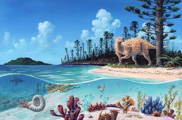 Wall Art - Photograph - Scelidosaurus Dinosaur by Richard Bizley