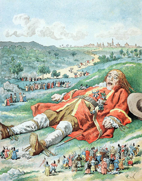 Scene From Gullivers Travels Art Print