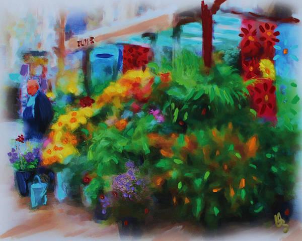Scene From La Rambla Art Print